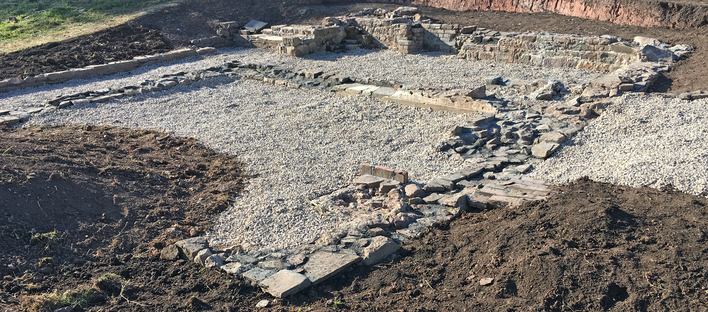 View of cottage remains looking north-west