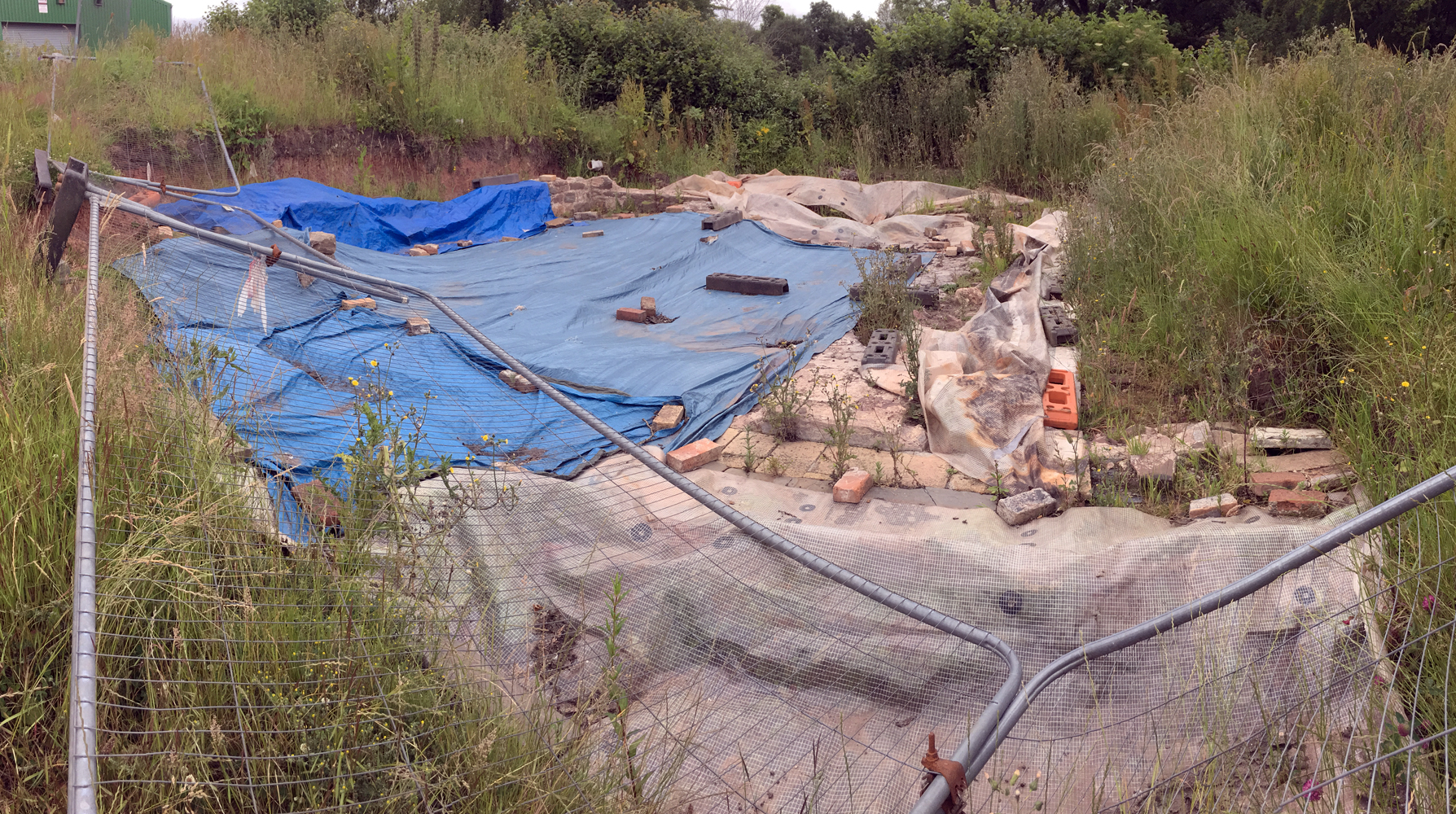 View of the site before work commenced