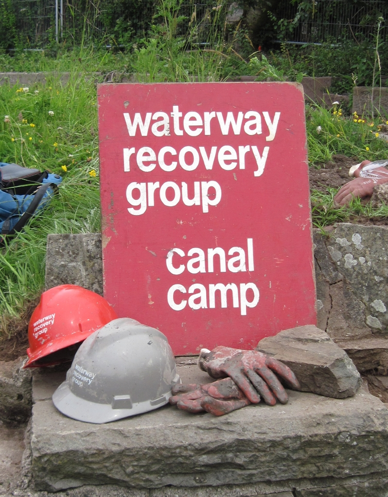 Waterway Recovery Group sign