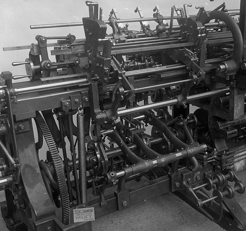Detail of textile machine