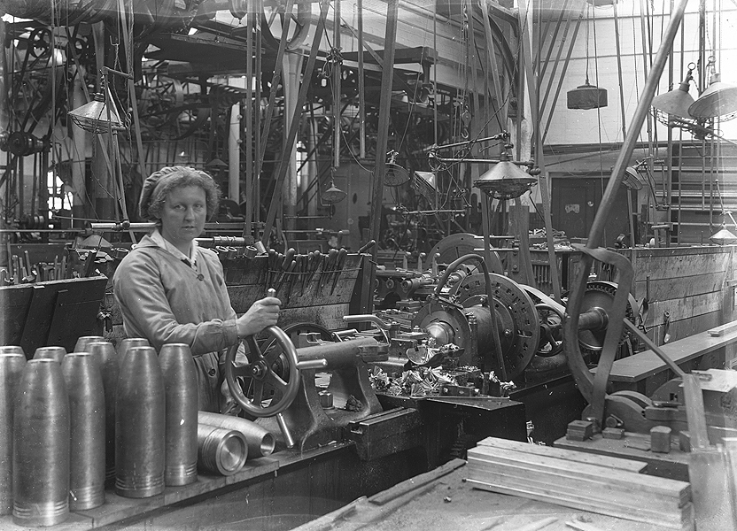 female lathe operator