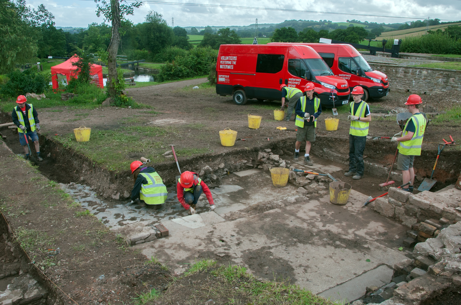 General view of Ty Coch Shop Lock archaeological excavations